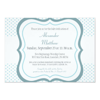 Trendy Baby Dedication Christening Invitation