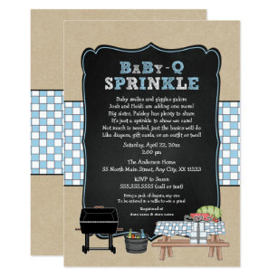 Bbq baby sprinkle invitations announcements zazzle trendy baby q sprinkle for boy baby shower invitation filmwisefo
