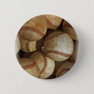 Trendy Baseball Artwork Pinback Button