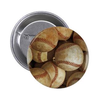 Trendy Baseball Artwork Pinback Button