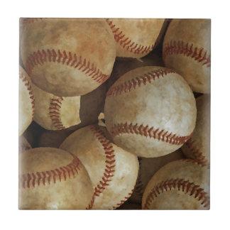 Trendy Baseball Artwork Tile