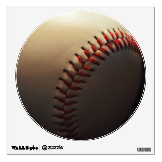 Trendy Baseball Close-up Wall Decal