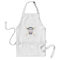 Trendy baseball mom adult apron