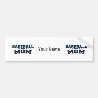 Trendy baseball mom bumper sticker