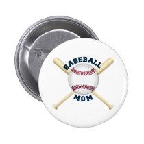 Trendy baseball mom button