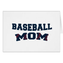 Trendy baseball mom card