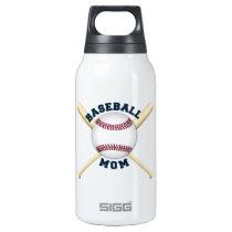 Trendy baseball mom insulated water bottle