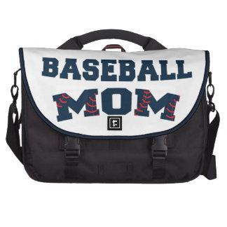 Trendy baseball mom laptop commuter bag