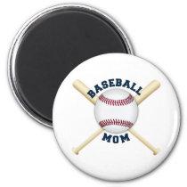 Trendy baseball mom magnet