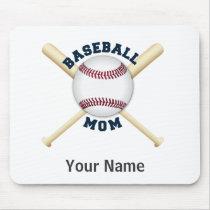 Trendy baseball mom mouse pad