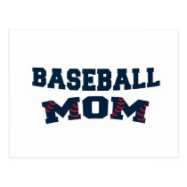 Trendy baseball mom postcard