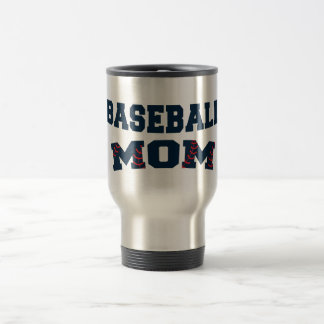 Trendy baseball mom travel mug
