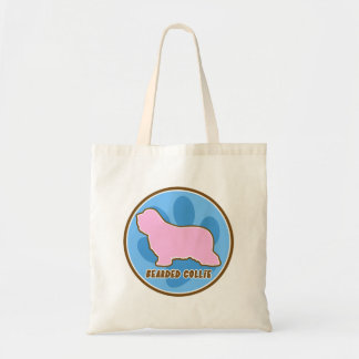Trendy Bearded Collie Tote Bag