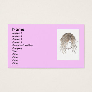 Trendy Beautician Business Cards