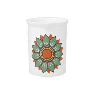Trendy Beautiful Floral Decor Drink Pitcher