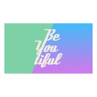Trendy Beautiful Typography Saying Fashion Neon Business Card