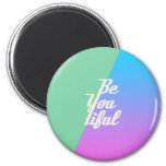Trendy Beautiful Typography Saying Fashion Neon Refrigerator Magnets