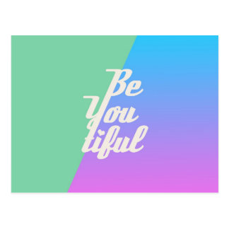 Trendy Beautiful Typography Saying Fashion Neon Postcard