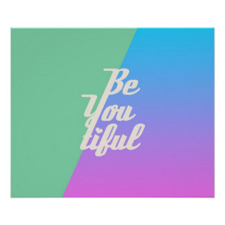 Trendy Beautiful Typography Saying Fashion Neon Poster