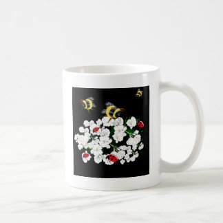Trendy Bees on Flowers nature art accessories Coffee Mugs