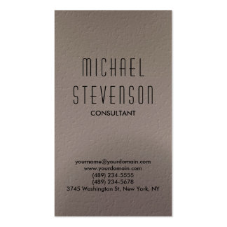 Trendy Beige Grey Simple Plain Business Card
