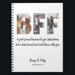 "Trendy BFF Photo Collage Best Friend Forever Quote Notebook<br><div class=""desc"">Trendy BFF Photo Collage Best Friends Forever Quote notebook</div>"