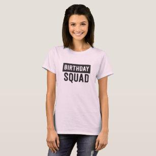 Trendy Birthday Squad T Shirt