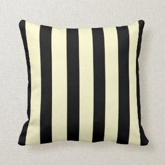 Trendy Black and Cream >SquareThrow Pillow