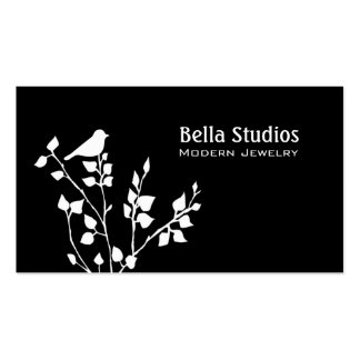 Trendy Black and White Bird Business Card Templates
