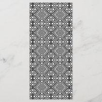 Trendy Black and White Geometric Pattern