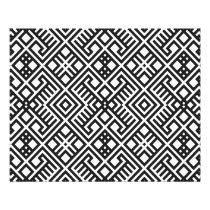 Trendy Black and White Geometric Pattern Flyer