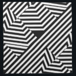 """Trendy Black and White Geometric Stripes Pattern Napkin<br><div class=""""desc"""">Add fashion and flair to your personal style with these trendy and bold black and white geometric stripes pattern napkins. This graphic modern and stylish design with triangles and chevron zigzag blocks is perfect home decor for the girly girl.</div>"""