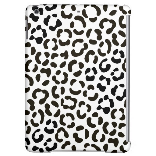 Trendy Black and White Leopard Print Pattern Case For iPad Air
