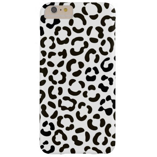 Trendy Black and White Leopard Print Pattern Barely There iPhone 6 Plus Case