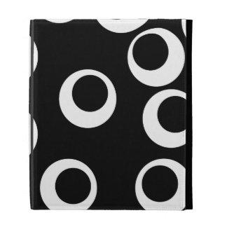 Trendy black and white retro design. iPad cases