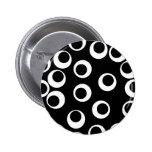 Trendy black and white retro design. Custom Pinback Buttons