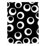 Trendy black and white retro design. Custom Post Card