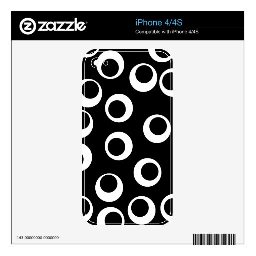 Trendy black and white retro design. decals for iPhone 4S