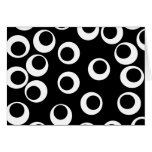 Trendy black and white retro design. greeting card