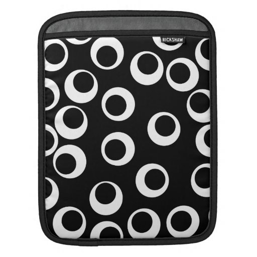 Trendy black and white retro design. sleeves for iPads