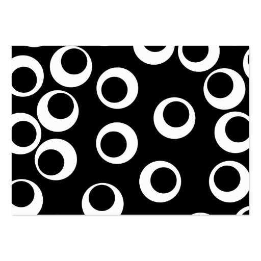 Trendy black and white retro design. large business card