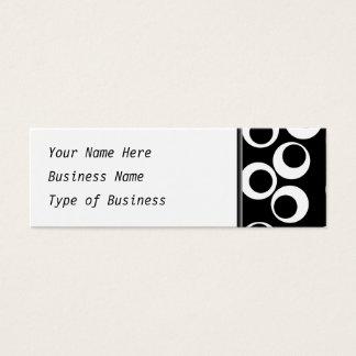 Trendy black and white retro design. mini business card