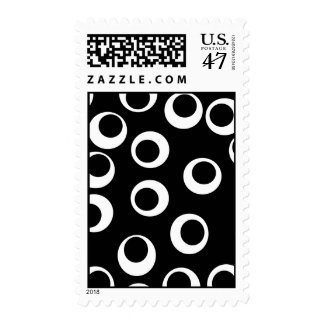 Trendy black and white retro design. postage