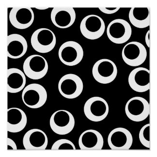 Trendy black and white retro design. poster