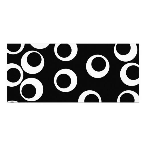 Trendy black and white retro design. customized rack card