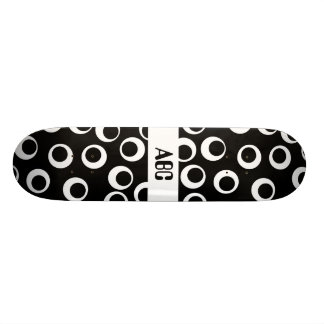 Trendy black and white retro design. skate board decks
