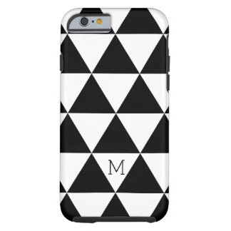 Trendy Black And White Triangles Pattern Tough iPhone 6 Case