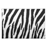 Trendy Black And White Zebra Pattern Cloth Place Mat