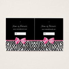 Trendy Black And White Zebra Print Hang Tag at Zazzle