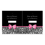 Trendy Black And White Zebra Print Hang Tag Business Card